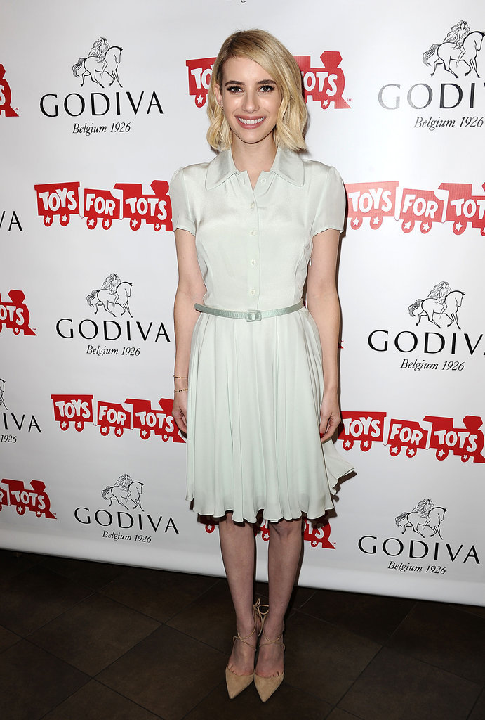 Emma Roberts helped kick off a Toys For Tots fundraiser in LA.