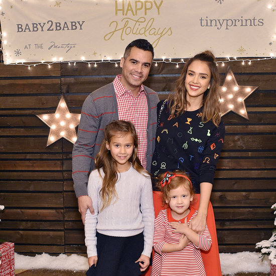 Jessica Alba and Her Family at Baby2Baby Holiday Party