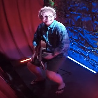Ed Sheeran Playing at a Peep Show Video