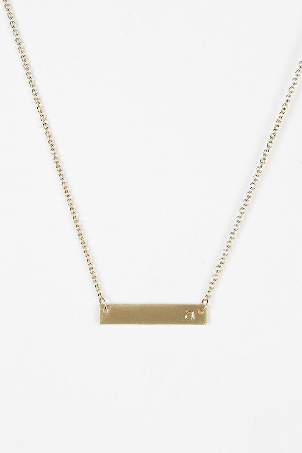 gold initial bar necklace the essential grandparents