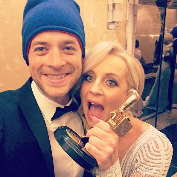Hamish supported his good friend Carrie Bickmore's Beanies for Brain Cancer initiative.