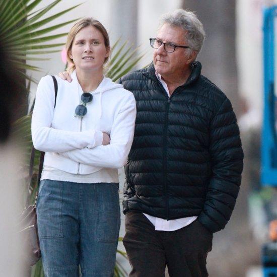 Dustin Hoffman Walking With Daughter December 2015