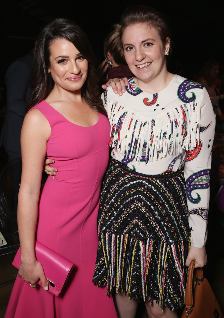 Pictured: Lea Michele and lena Dunham
