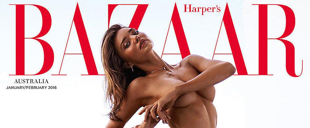 Miranda Kerr Sports Stilettos and Nothing Else on the New Cover of Harper's Bazaar Australia