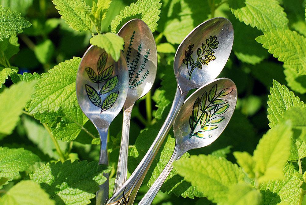 Spoon Garden Markers