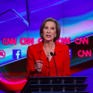Carly Fiorina's Cross Necklace During GOP Debate