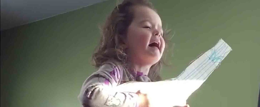 "Stop What You're Doing and Watch This 3-Year-Old Girl's Adorable ""Hello"" Performance"