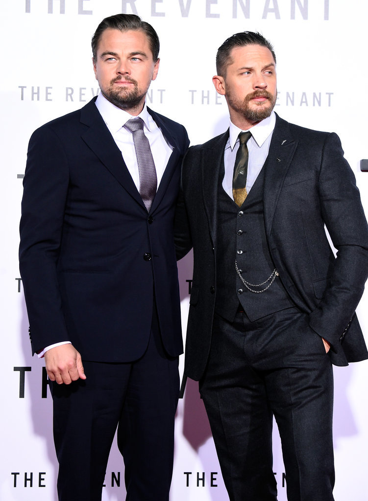 EVENT 3 ✝ Burns Night Leonardo-DiCaprio-et-Tom-Hardy-Avant-Premi%C3%A8re-Revenant