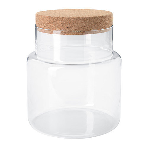 in two sizes these simple glass jars 30 with cork lids designed 25 storage solutions so. Black Bedroom Furniture Sets. Home Design Ideas