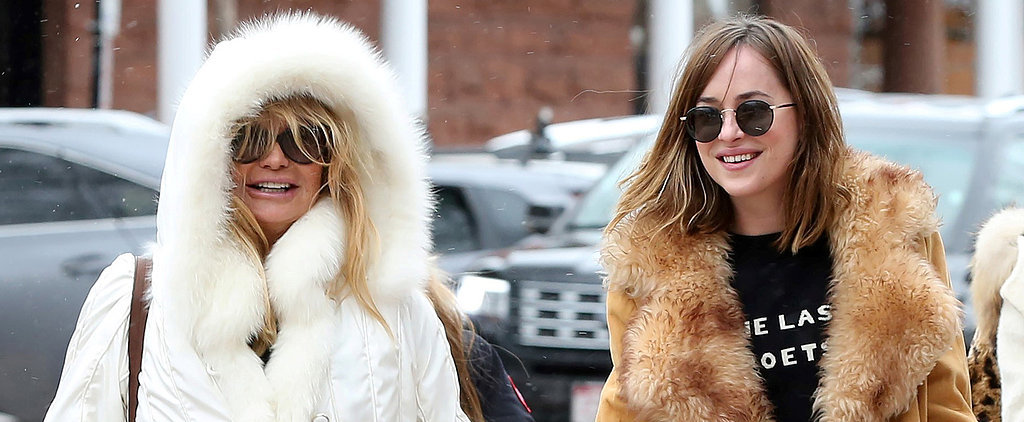 Kate Hudson and Dakota Johnson Have the Cutest Double Mother-Daughter Date With Their Moms