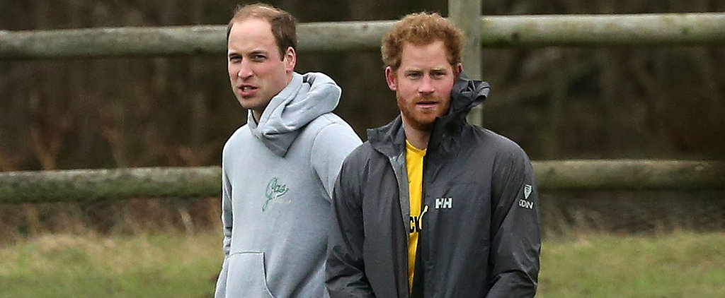 Prince William and Prince Harry Get Playfully Competitive During a Christmas Eve Soccer Game