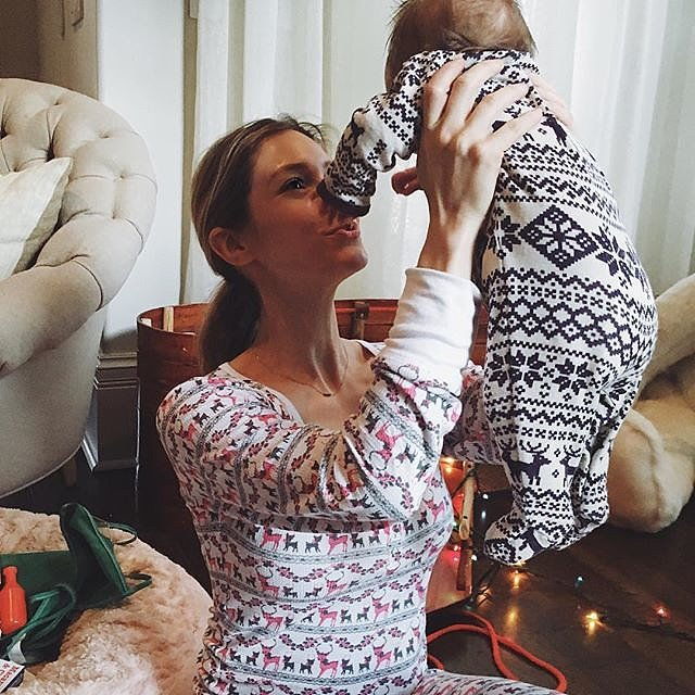 Kristin Cavallari and her daughter, Saylor Cutler, donned matching onesies on Christmas.