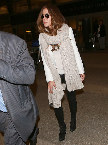 Kate Beckinsale Spotted Arriving at LAX with Her Wedding Ring Still Off Following Split From Husband Len Wiseman