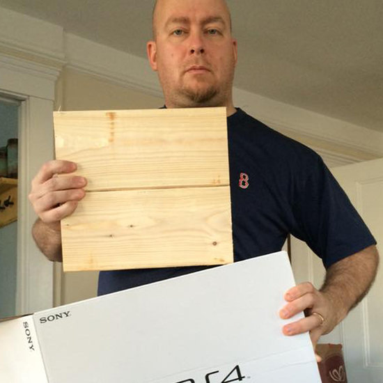 Boy Gets Block of Wood Instead of PS4 For Christmas