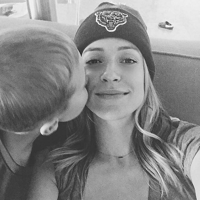 """Game day kisses #GoBears."""