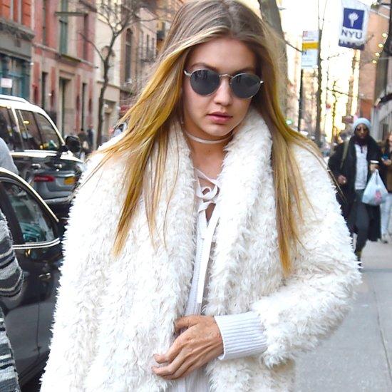 Gigi Hadid Wearing All White January 2016