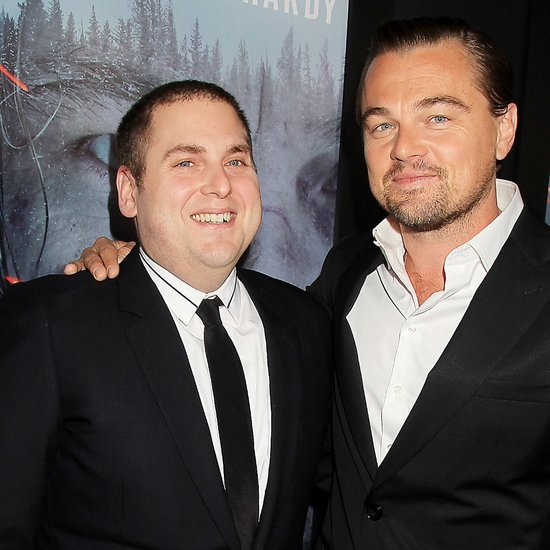Leonardo DiCaprio and Jonah Hill at The Revenant Screening
