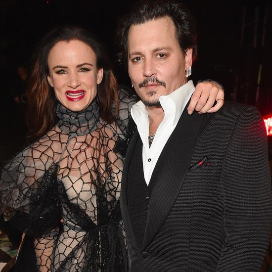 Johnny Depp and Juliette Lewis at Art of Elysium Gala 2016