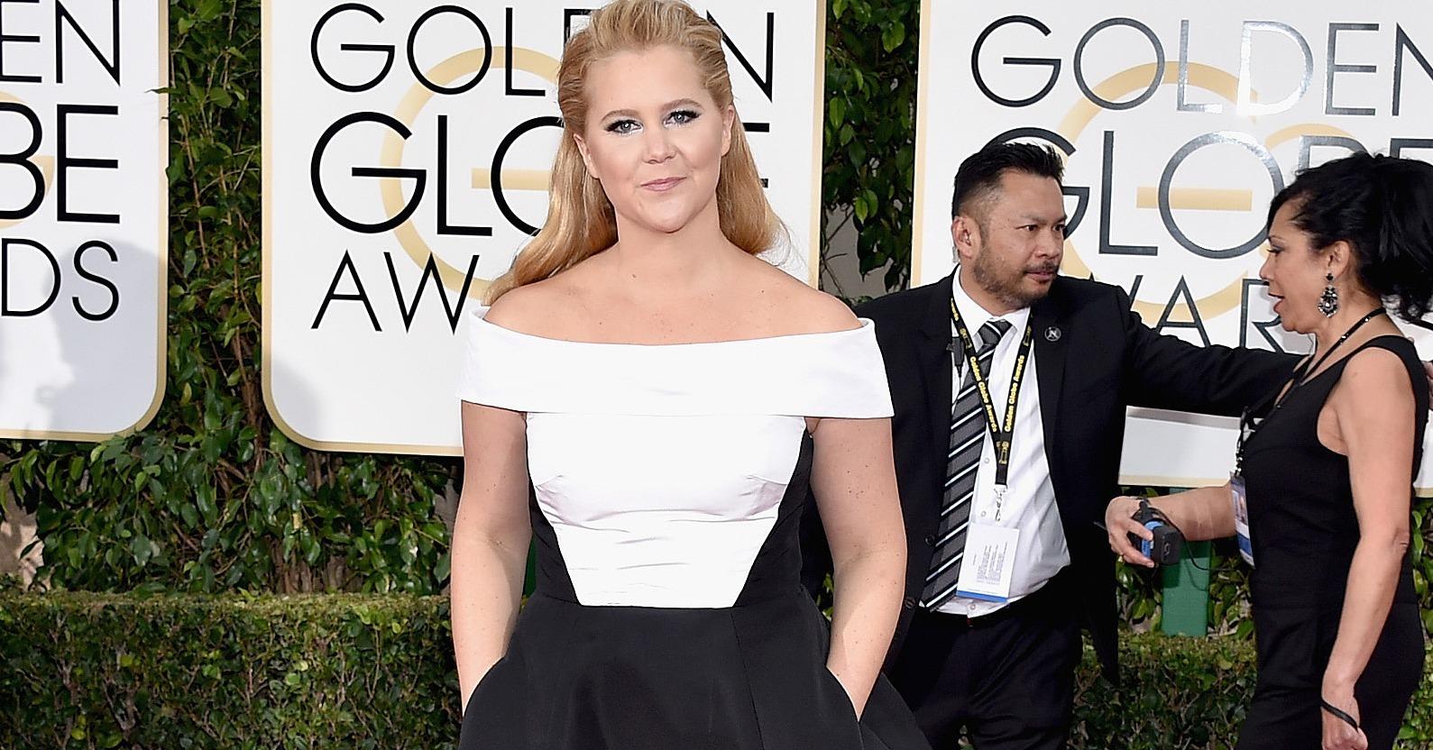 Amy Schumer's Prabal Gurung Dress at the Golden Globes ...