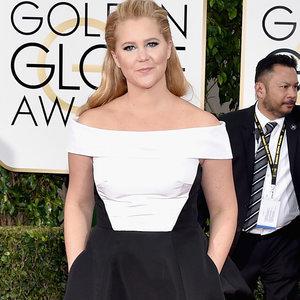 Amy Schumer's Prabal Gurung Dress at the Golden Globes 2016