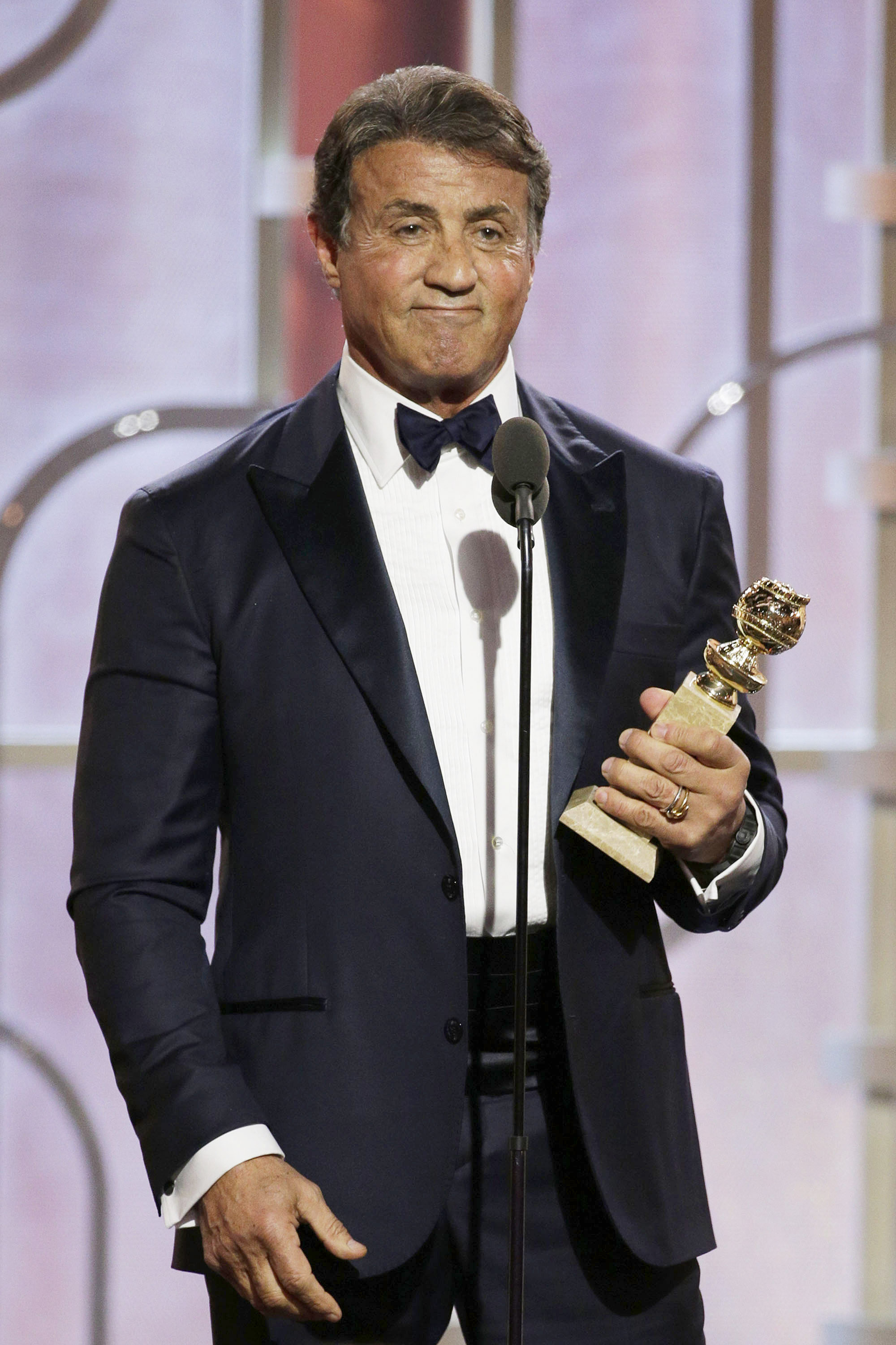 Sylvester Stallone Accepting For Best Supporting Actor in a Movie ...