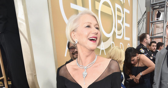 Helen Mirren's Golden Globes Dress Is Sheer Elegance