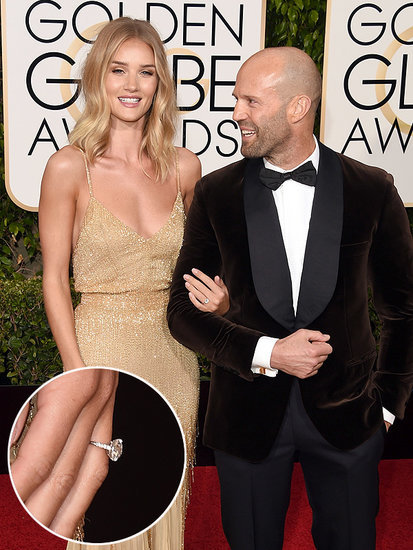 EXCLUSIVE: Jason Statham and Rosie Huntington-Whiteley Are Engaged - See Her Massive Ring!