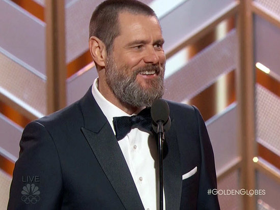 Jim Carrey Presents at Golden Globes, His First Public Appearance Since the Death of Girlfriend Cathriona White