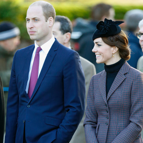 Kate Middleton and Prince William in Sandringham 2016