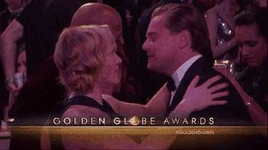 Once inside the 2016 Golden Globe Awards, the two met up and shared a friendly embrace. We can only image they were talking about how much they've missed each other lately.