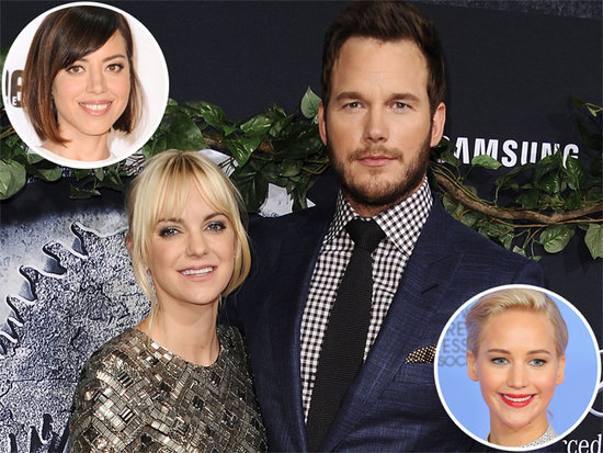Anna Faris Grills Chris Pratt's Onscreen Love Interests Aubrey Plaza and Jennifer Lawrence in Podcast Interview