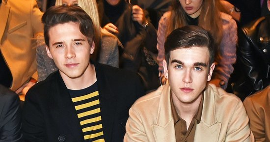 Daniel Day-Lewis' Look-Alike Son Gabriel Day-Lewis Hits Burberry Fashion Show With Brooklyn Beckham