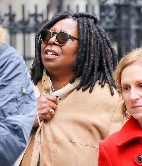Whoopi Goldberg and Jesse Eisenberg out for lunch together in NYC