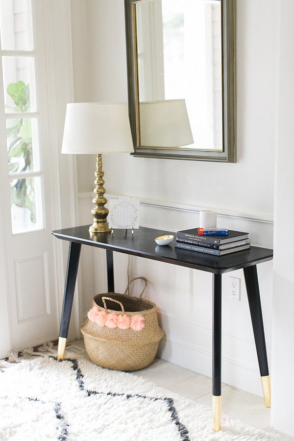 Easy Diy Foyer Table : Diy entry table hack popsugar home