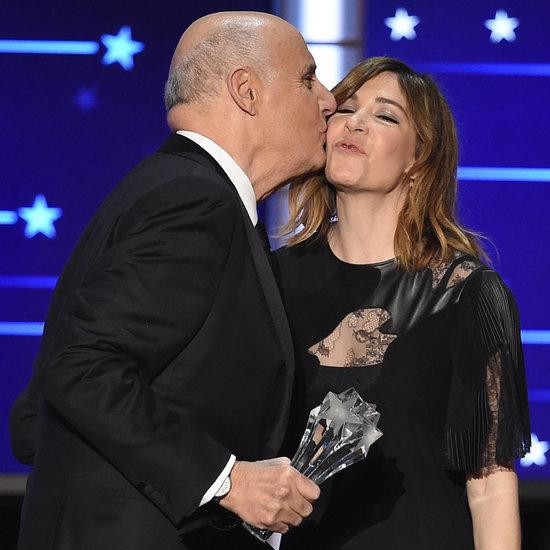 Kisses at the Critics' Choice Awards 2016