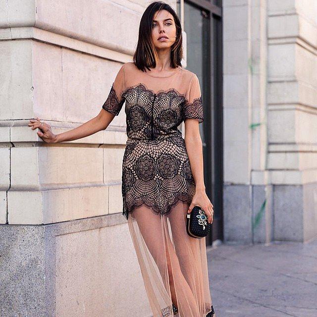 A Sheer Naked Dress