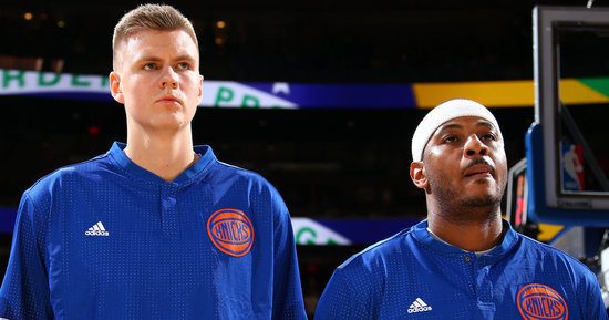 Kristaps Porzingis Is Killing Carmelo Anthony In Jersey Sales