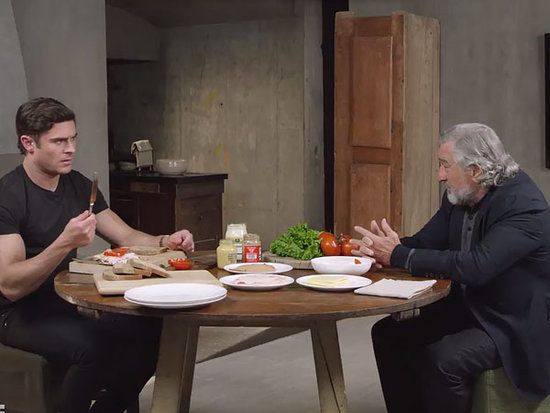 Watch Robert De Niro Trick Zac Efron Into Making Him a Turkey Sandwich (VIDEO)