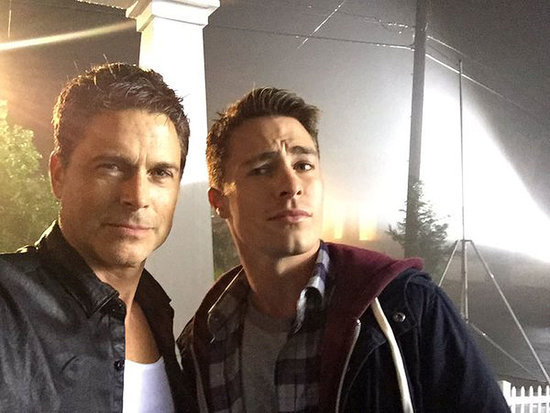 Hello, Handsome(s)! The Grinder Costars Rob Lowe and Colton Haynes Share (On-Screen) Father-Son Selfies