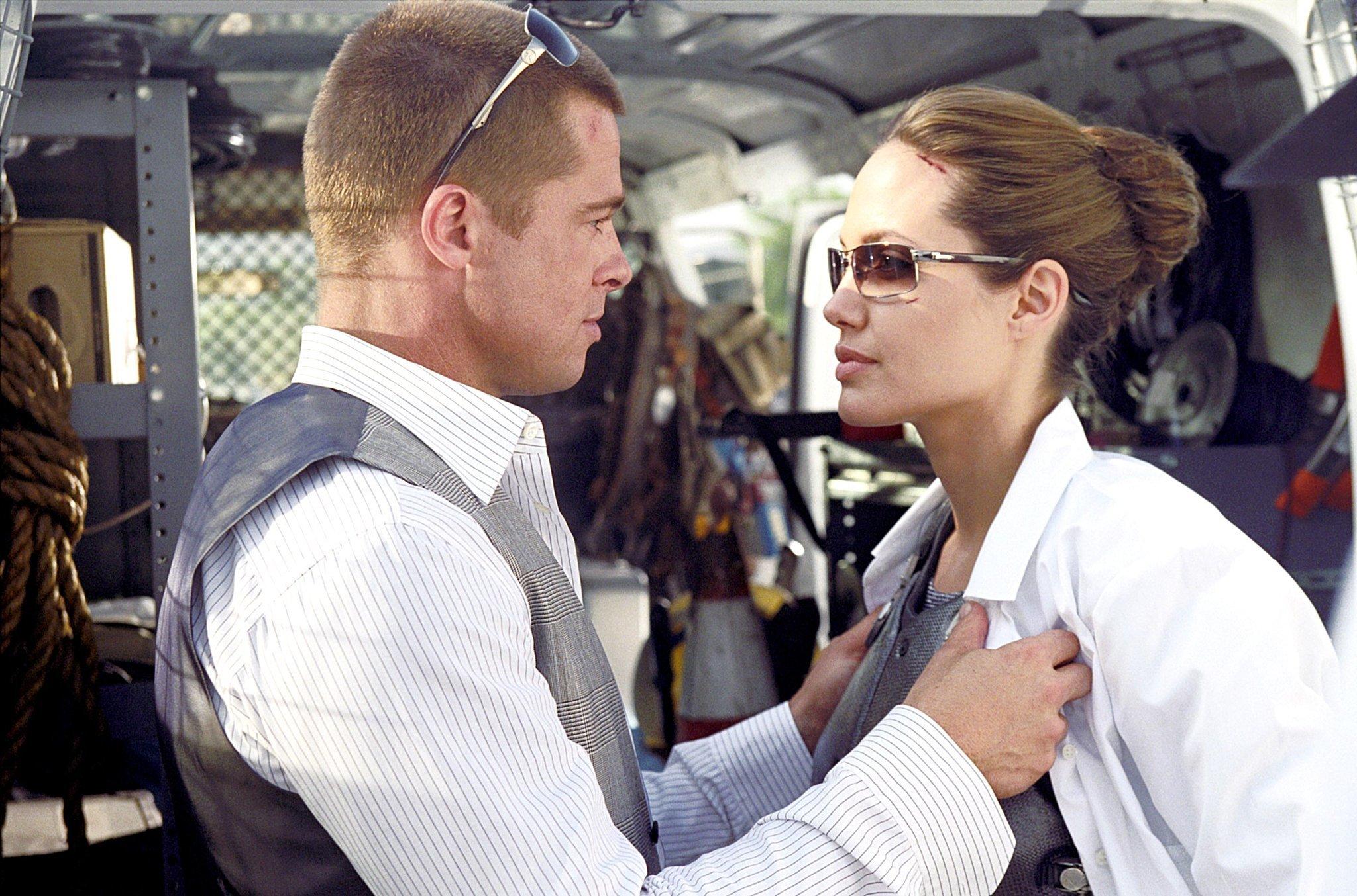 Brad Pitt and Angelina Jolie, Mr. & Mrs. Smith