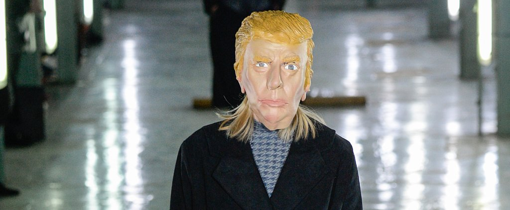 These Models Wore Presidential Candidate Masks on the Catwalk — and It Was Just as Bizarre as It Sounds