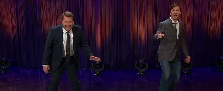 "James Corden and Sean Hayes Get a Workout While Performing ""Sorry"" on a Giant Piano"