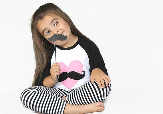 Mustache Love Heart Shirt
