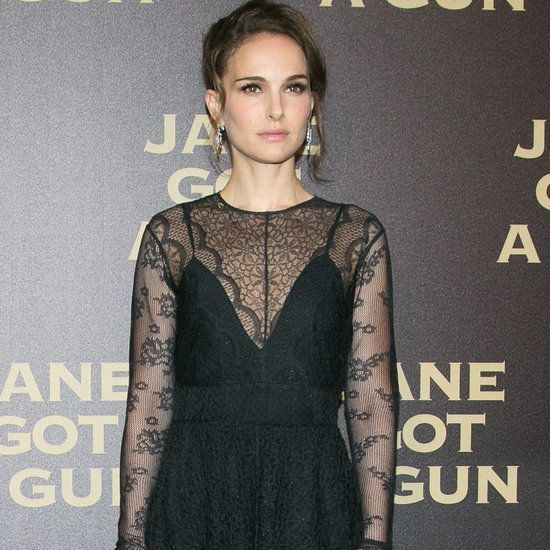 Natalie Portman in Dior Black Lace Gown | January 2016