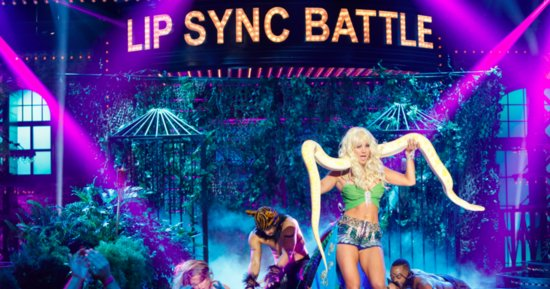 Kaley Cuoco Slithers Her Way Through 'I'm A Slave 4 U' On 'Lip Sync Battle'