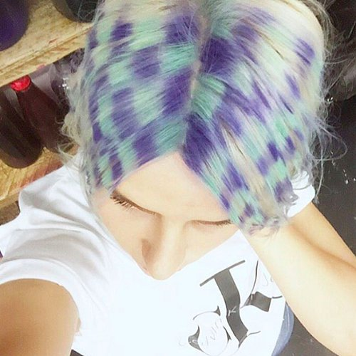 Checkerboard Hair Color Trend