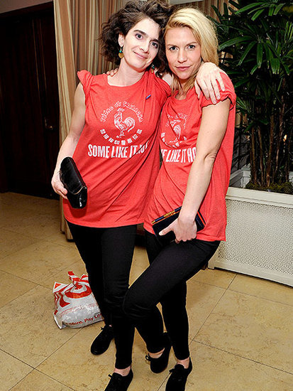 Claire Danes and Gaby Hoffmann Twerk with Susan Sarandon and Wear Matching Sriracha Outfits After the SAG Awards