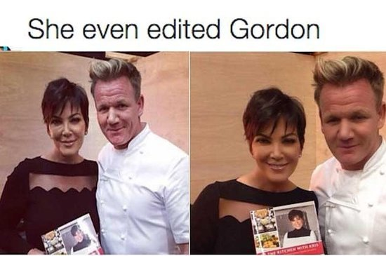Never Forget The Time Kris Jenner Photoshopped The Hell Out Of Gordon Ramsay