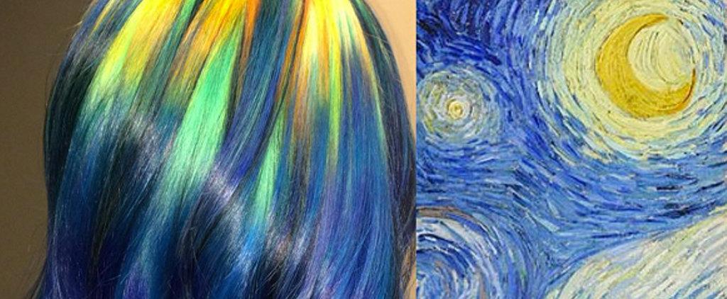 Colorist Transforms Classic Artwork Into Rainbow Hair