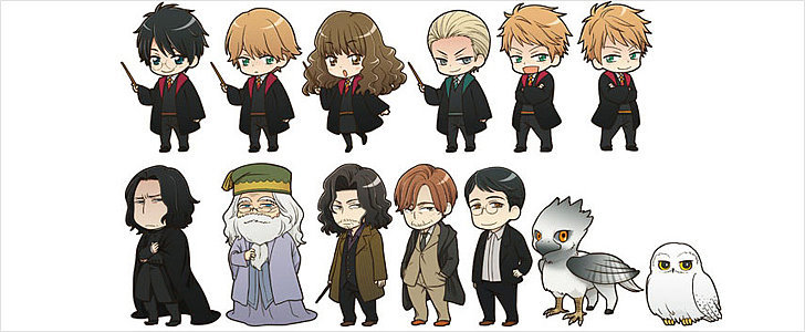 These Harry Potter Anime Illustrations Are So Cute, You Might Pass Out